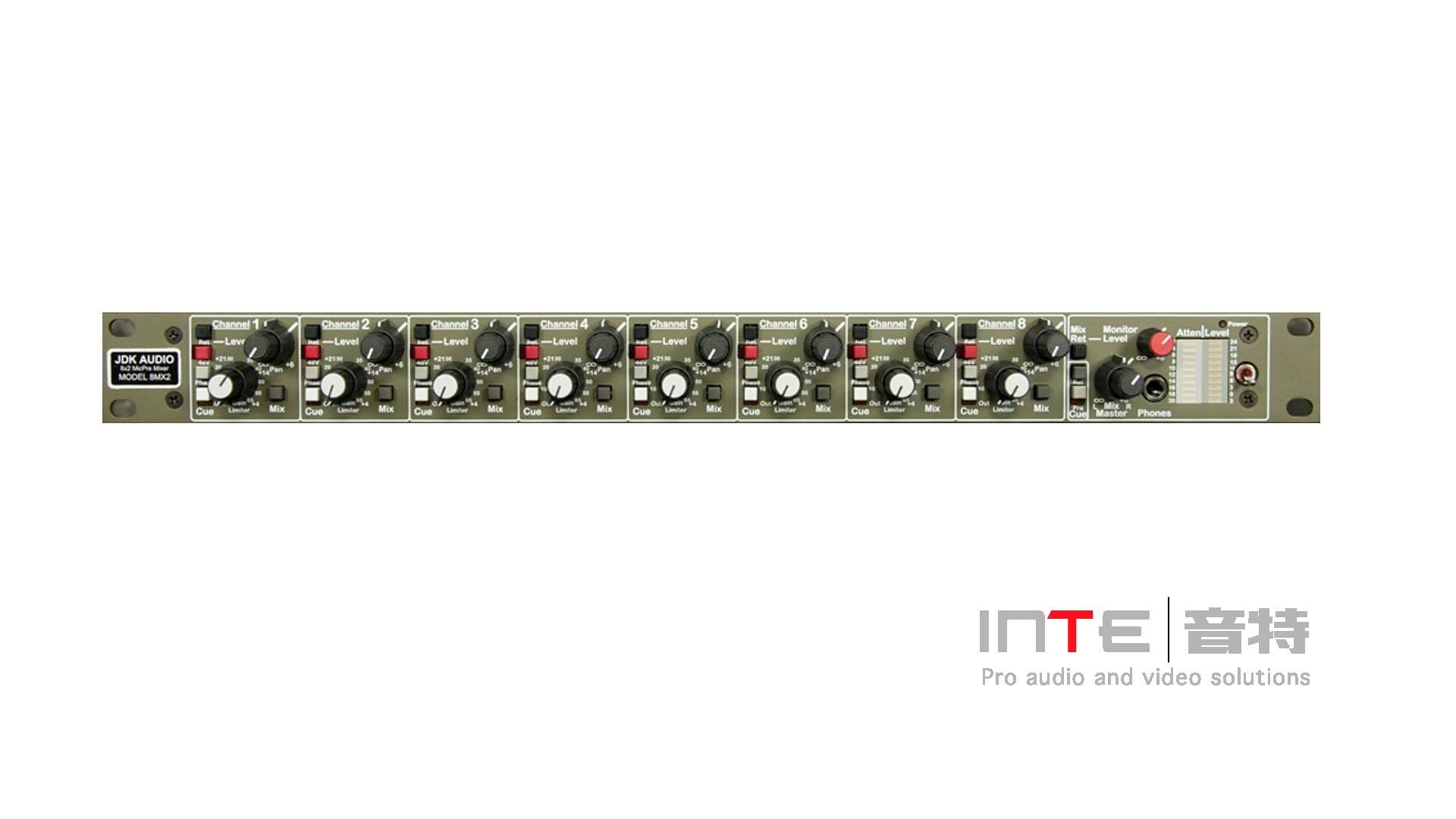 JDK  8MX2机架式前置放大器/混合器