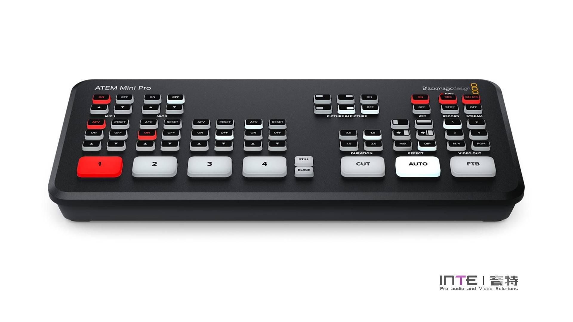 Blackmagic ATEM Mini PRO广播级现场制作多机位导播台