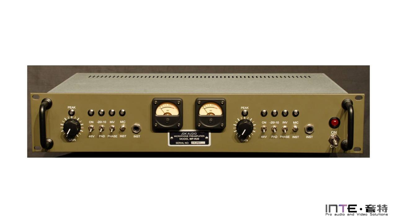 API  R20 2 Channel Mic Pre 双通道前置放大器
