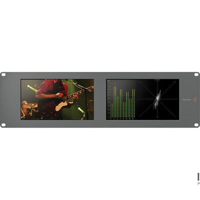 Blackmagic SmartScope Duo 4K 双联式8英寸3RU SDI监视器BMD机架式监看设备